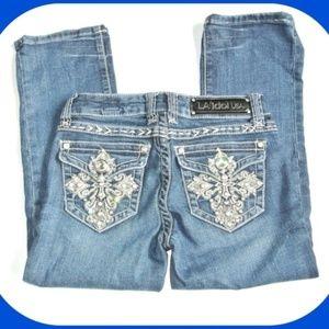 LA Idol USA Jeans Juniors size 1 Embellished